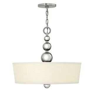 Hinkley Lighting 3444 3 Light Indoor Drum Pendant from the Zelda Collection