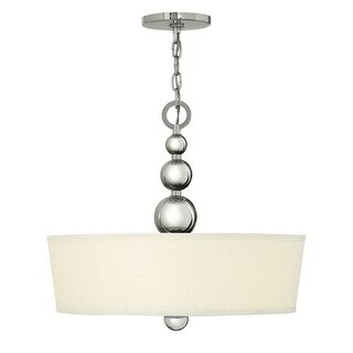 Hinkley Lighting 3444 3 Light Indoor Drum Pendant from the Zelda Collection