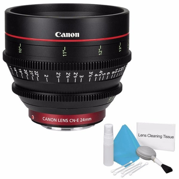 Canon CN-E 24mm T1.5 L F Cine Lens (International Model) + Deluxe Cleaning Kit Bundle (AF6CANCNE2415LB1)