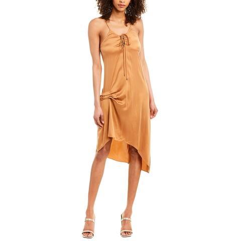 Haute Hippie Edith Silk-Blend Slip Dress
