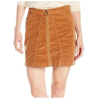 Buffalo David Bitton NEW Brown Women's Size 26 Corduroy A-Line Skirt