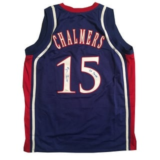 Mario Chalmers Autographed Kansas Signed 2008 Champs Basketball Jersey JSA COA 1