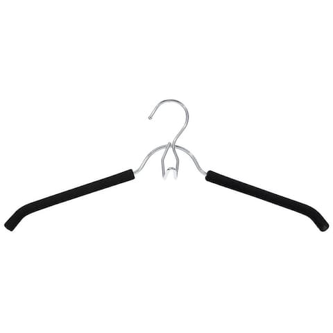 Closet Spice Chrome Shirt/Blouse Hanger with Non-Slip Foam Pad and Multi-Purpose Hook - Set of 6