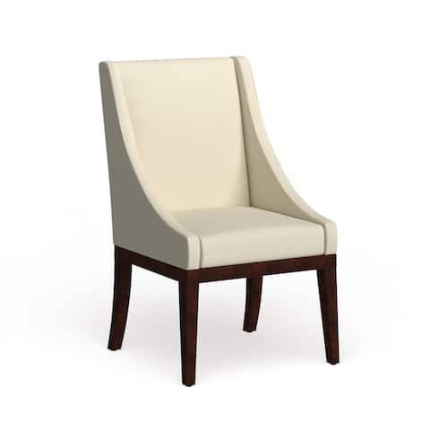 "SAFAVIEH Dining Soho Cream Leather Arm Chair - 23"" x 26.2"" x 39.2"""