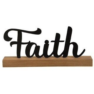 "Standing Metal Sign ""Faith"""