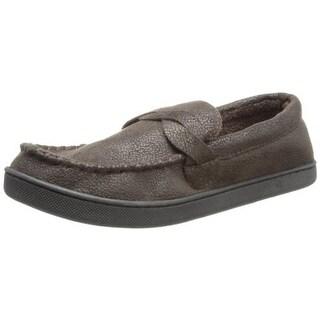 Isotoner Mens Microsuede Indoor/Outdoor Loafer Slippers