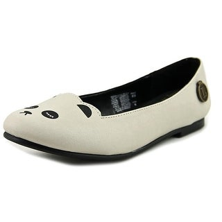 Loly in the Sky Pamela Women  Round Toe Synthetic White Flats
