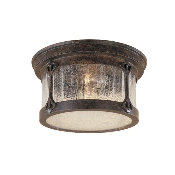 Designers Fountain 20935-CHN 2-Light Cast Aluminum Flush Mount from the Canyon Lake Collection - chestnut - n/a