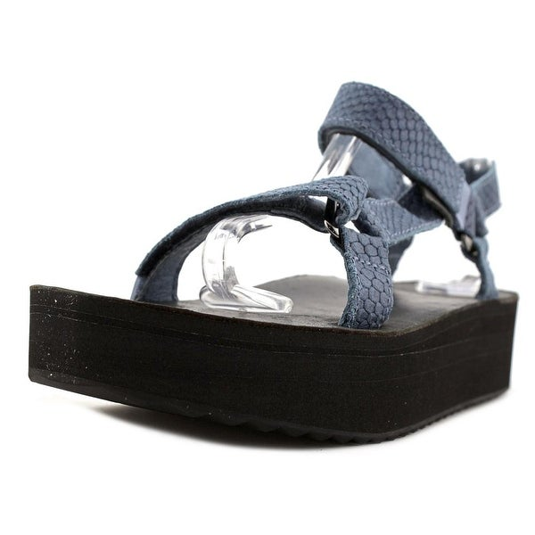 Teva Flatform Universal Everglade Women Open-Toe Leather Sport Sandal