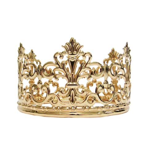 "Metal Princess Crown Decor - 2.25"" H x 4"" D"