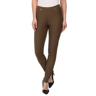 Michael Kors Solid Pull On Skinny Leggings Pants - S