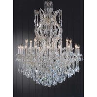 Crystal Chandelier dressed with Empress Crystal 25 Lights - Gold