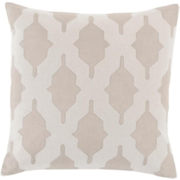 "20"" Tan and Desert Sand Brown Woven Decorative Square Throw Pillow"