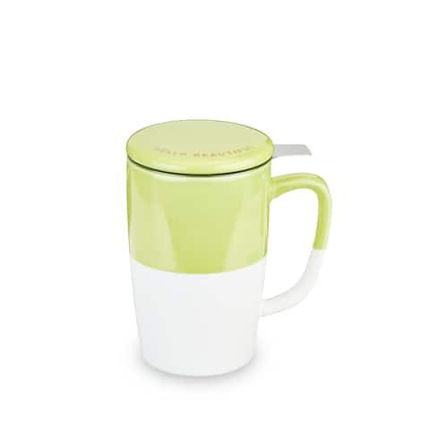 "Delia Green Tea Mug & Infuser by Pinky Up - 5.5"" x 5"""