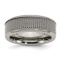 Chisel Titanium Base with Stainless Steel Mesh Center 8mm Band