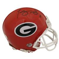 Roquan Smith Autographed Georgia Bulldogs Mini Helmet JSA