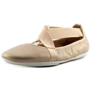 Easy Spirit e360 Yandra Women WW Round Toe Leather Ballet Flats
