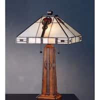 Meyda Tiffany 70965 Stained Glass / Tiffany Table Lamp from the Parker Poppy Collection - n/a