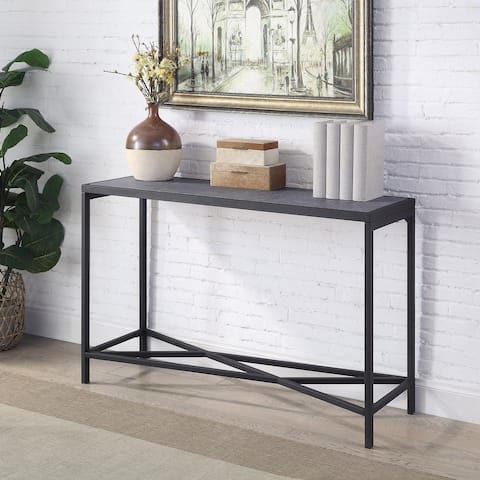 Furniture of America Nina Contemporary Sand Black Sofa Table