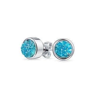 Bling Jewelry Dyed Blue Druzy Quartz Stud earrings Rhodium Plated 8mm|https://ak1.ostkcdn.com/images/products/is/images/direct/e82db6cccfc325799360d144bfbeb6a08867aed9/Bling-Jewelry-Dyed-Blue-Druzy-Quartz-Stud-earrings-Rhodium-Plated-8mm.jpg?impolicy=medium