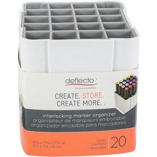 "Deflecto Interlocking Marker Organizer-White, 4.4""Wx4.3""Hx4""D"