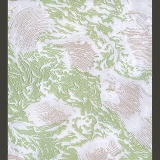 Wallpaper Green Shell Embossed Textured Vinyl