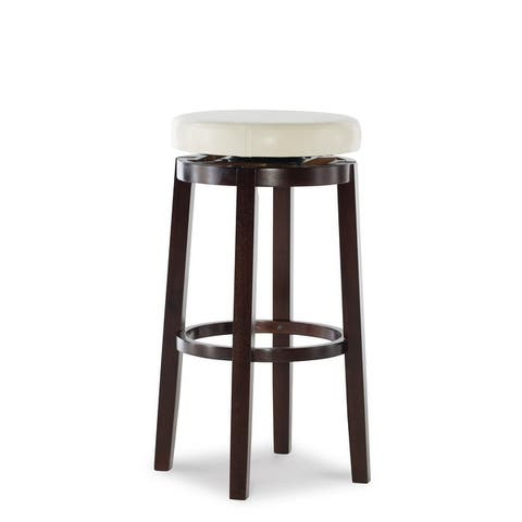 Copper Grove Bennery Backless Off-white Swivel Seat Bar Stool