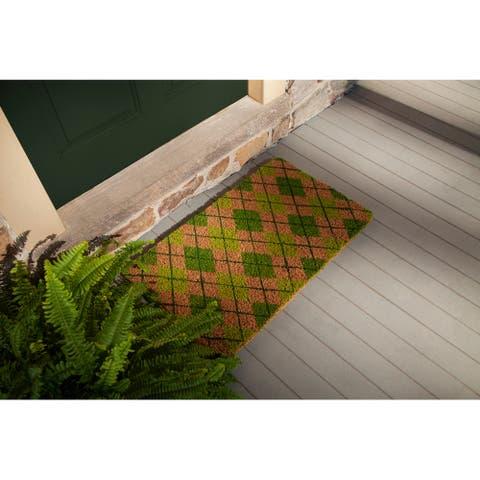 Argyle Handwoven Coconut Fiber Doormat