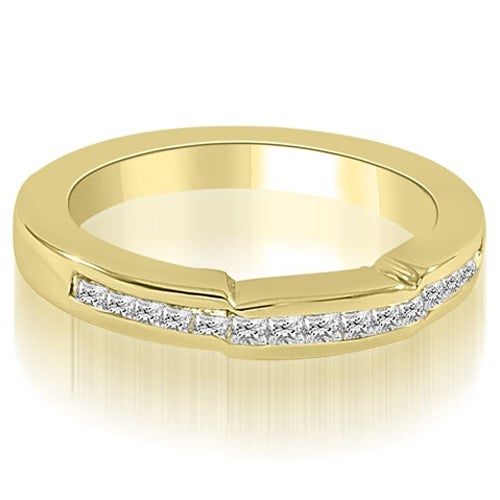 0.50 cttw. 14K Yellow Gold Channel Set Princess Diamond Wedding Band
