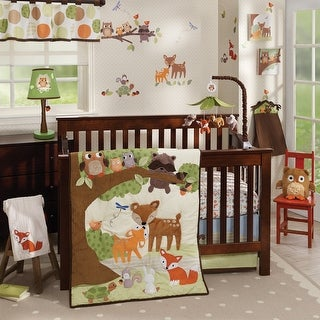 Link to Lambs & Ivy Woodland Tales Deer, Fox, Owl, & Raccoon Forest Theme Nursery 4-Piece Baby Crib Bedding Set Similar Items in Bedding Sets