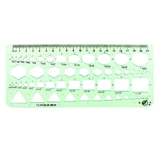 Unique Bargains Stationery Drafting Drawing Geometric Combine Template Ruler Green