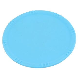 Family Silicone Round Shaped Desktop Coffee Cup Heat Resistant Mat Blue 11cm Dia