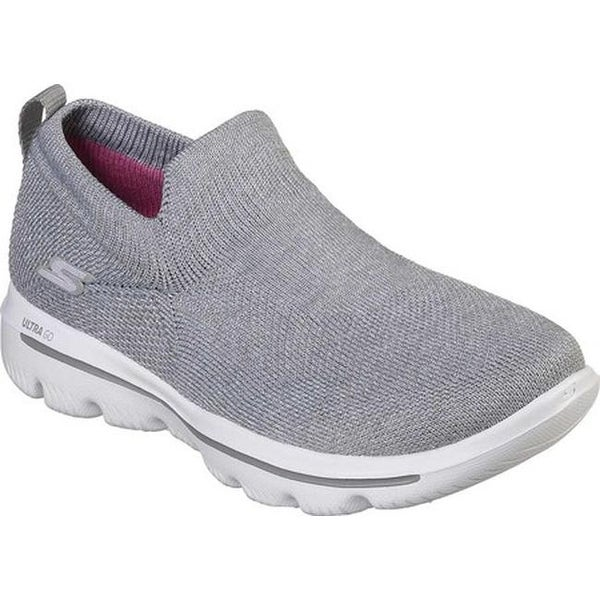 1c532bf0c209a Shop Skechers Women s GOwalk Evolution Ultra Assurance Walking Shoe Silver  - Free Shipping Today - Overstock - 25724021