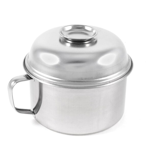 "Unique Bargains D Shaped Handle Stainless Steel Lunch Box Food Container 5.7"" Dia"