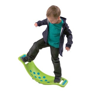 Children's Fat Brain Toys Teeter Popper - Green Rocking Toy For Kids