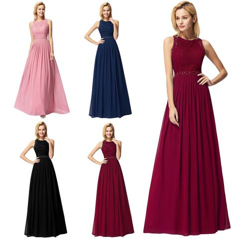 Ever-Pretty Women's Lacey Long Evening Prom Homecoming Party Dress 073912