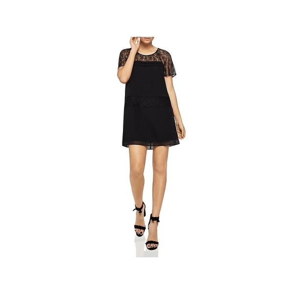 047f99bffb27c BCBGeneration Womens Party Dress Lace Inset Tie Back - L