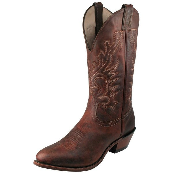 Boulet Western Boots Mens Cowboy Leather Laid Back Copper