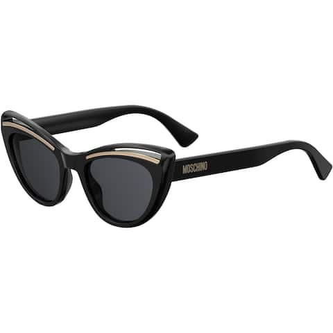 Moschino MOS036S 0807 51 BLACK FEMALE ADULT CAT EYE/BUTTERFLY Sungasses