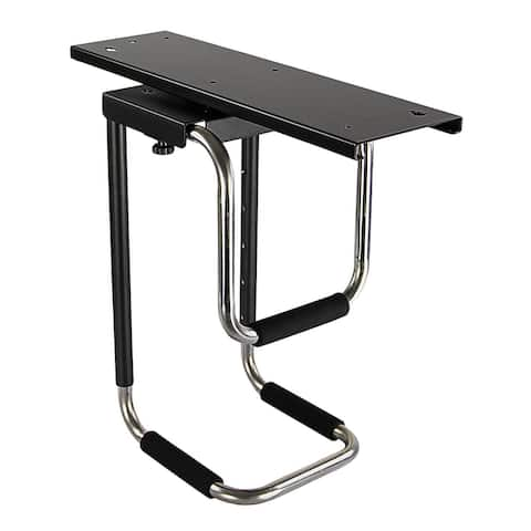Mount-It! Heavy Duty Under Desk Computer Mount, Adjustable CPU Holder with Sliding Tracks