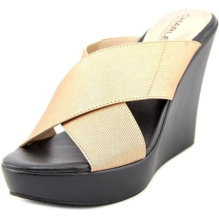 Charles By Charles David Pal Open Toe Canvas Wedge Sandal