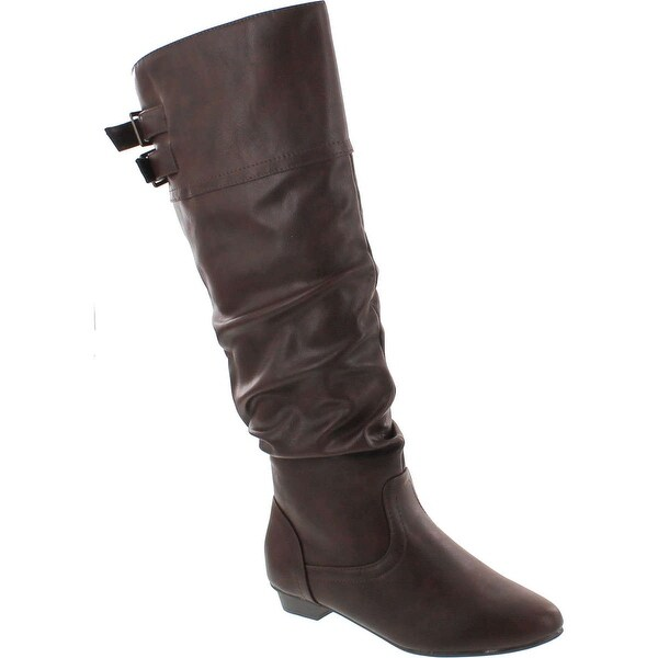 Soda Carano Vegan Slouchy Mid Calf Riding Boot