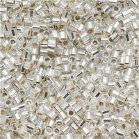 Miyuki Delica Hex Cut Seed Beads 15/0 Silver Lined Crystal DBSC041 4 GR