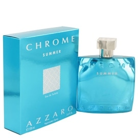 Chrome Summer by Azzaro Eau De Toilette Spray (Limited edition 2012) 3.4 oz - Men