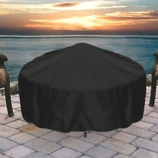 Sunnydaze Durable Weather-Resistant Round Fire Pit Cover - Black - 60-Inch