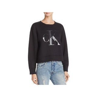 Calvin Klein Jeans Womens Sweatshirt Long Sleeves Logo