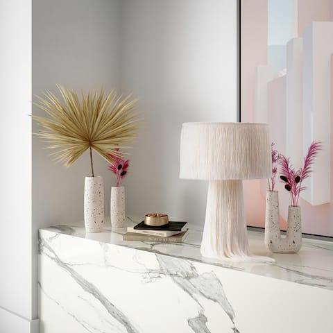 "Atolla Emerald Tassel Table Lamp - 9.9""W x 9.9""D x 15.2""H"