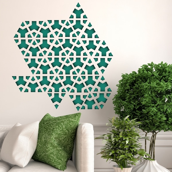 Walplus Green Triangle Geometry Modern Wall Sticker Decal Home Decor. Opens flyout.