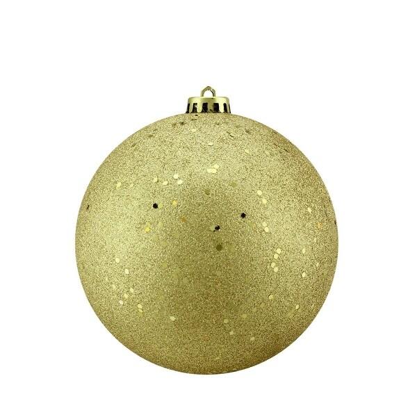 "Vegas Gold Holographic Glitter Shatterproof Commercial Christmas Ball Ornament 6"" (150mm)"