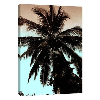 """PTM Images 9-108913  PTM Canvas Collection 10"""" x 8"""" - """"Tropical Shadows"""" Giclee Palms Art Print on Canvas"""